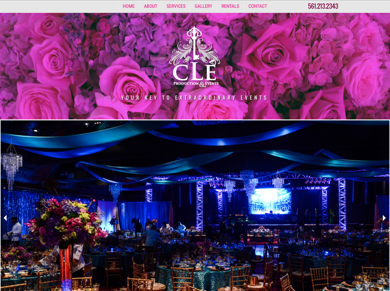 Clé Production and Events Website