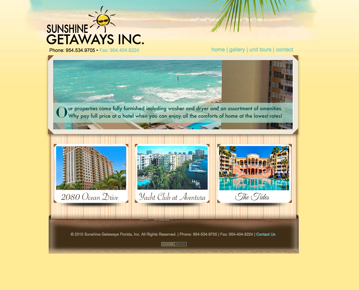 Sunshine Getaways, Inc. Website